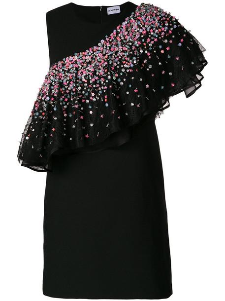 AU JOUR LE JOUR dress asymmetrical women spandex embellished black