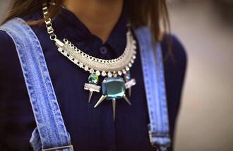 jewels crystal quartz statement necklace statement necklace ethnic jewellery spikes