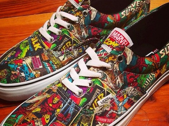 shoes vans sneakers comic shoes