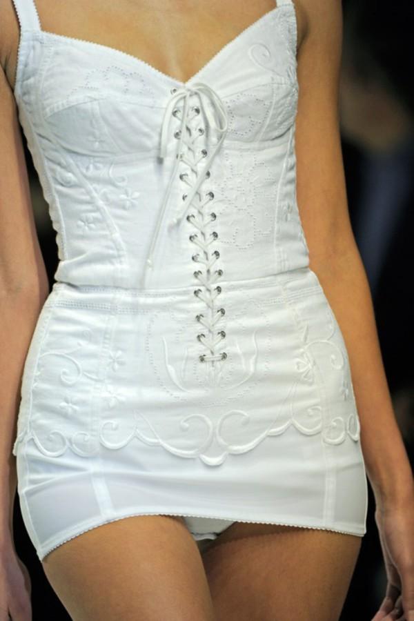 underwear haute couture lingerie corset dress white sexy dolce and gabbana dolce and gabbana sleeping bra dress