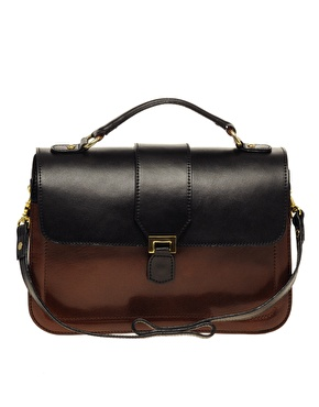 Asos leather clasp detail briefcase at asos