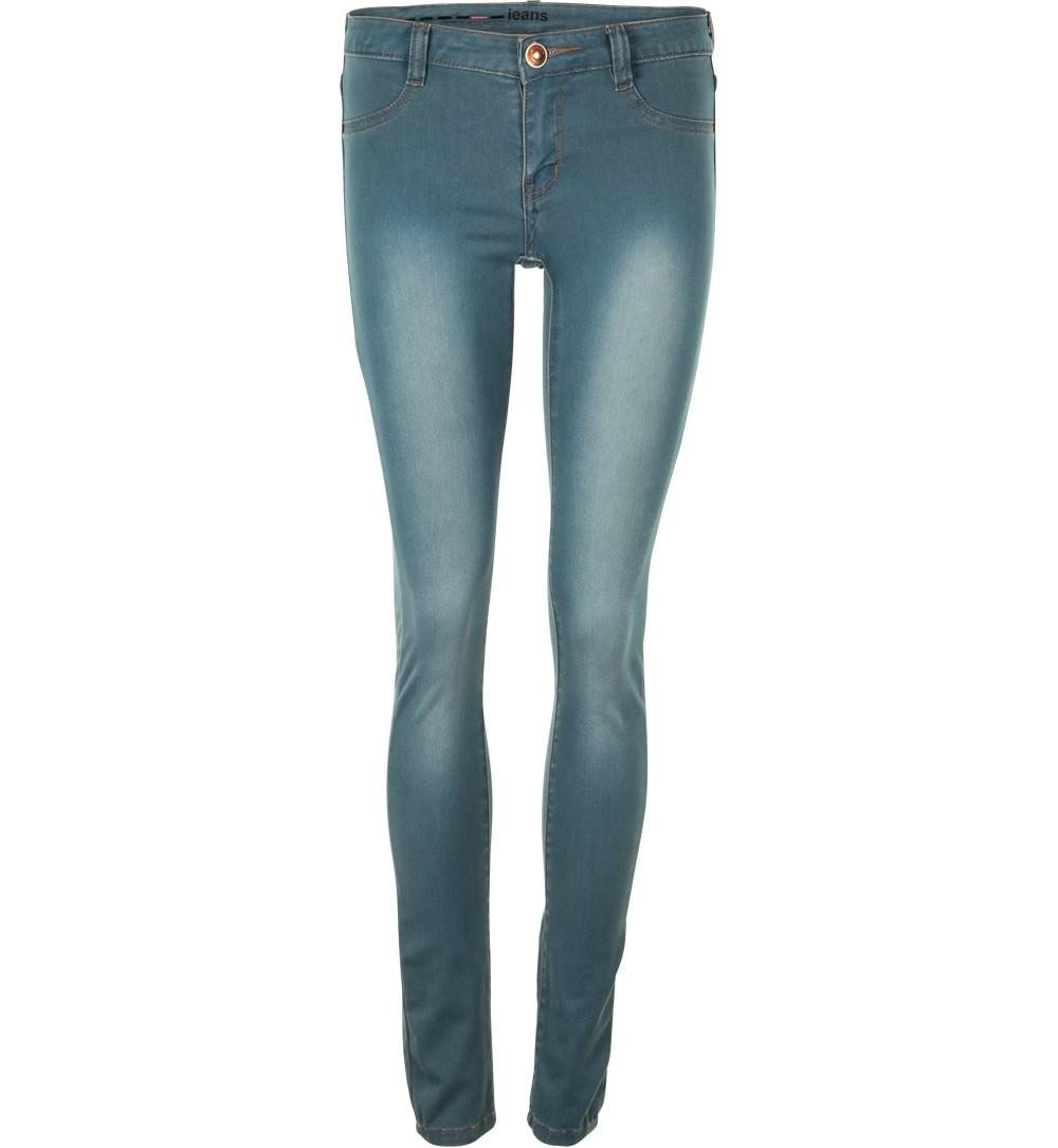 Jean jegging bleu délavé - jeans Jennyfer