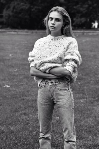 jeans celebrity cara delevingne sweater