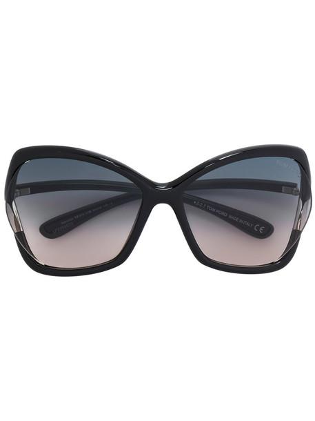Tom Ford Eyewear - Astrid 02 sunglasses - women - Acetate - 61, Black, Acetate
