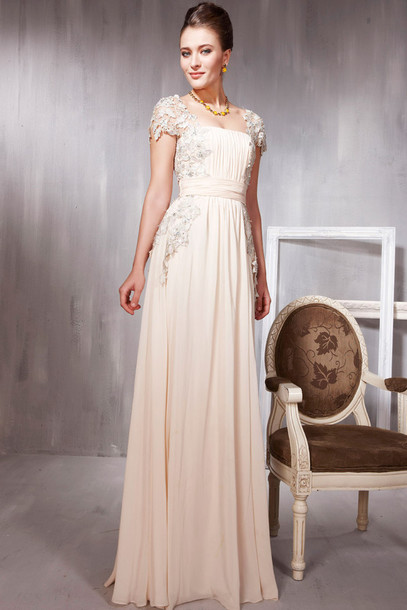 dress evening dress evening dress long evening dress beige dress bridal gown elliot claire london