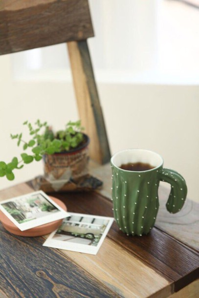 home accessory cactus mug cactus mg tea drink coffee cactus drink green