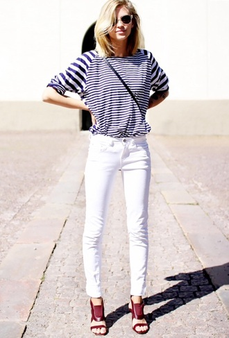 shoes high heels maroon/burgundy striped shirt shirt