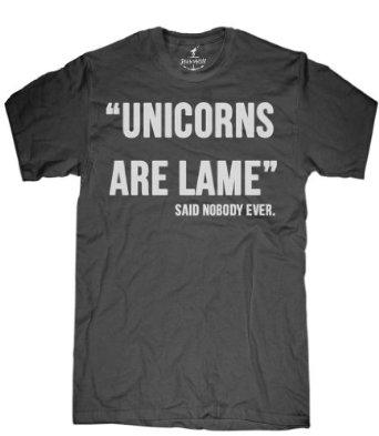 Amazon.com: Skip N' Whistle Adult Unicorns Are Lame T-Shirt: Clothing