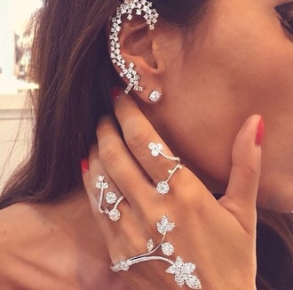 jewels ear cuff diamonds