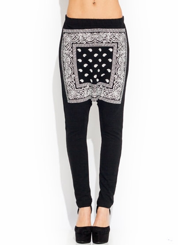 GJ | City Slicker Bandana Pants $39.70 in BLACK BLUE RED - Jogger Pants | GoJane.com