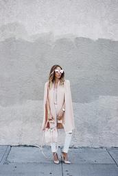 jacket,blush,baby pink,cute,summer,chic,blogger,drape,flowy,36683,streetstyle