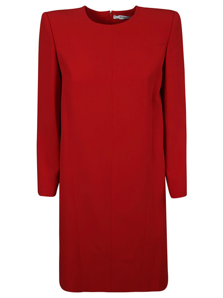 Givenchy Structured Shoulder Dress in red