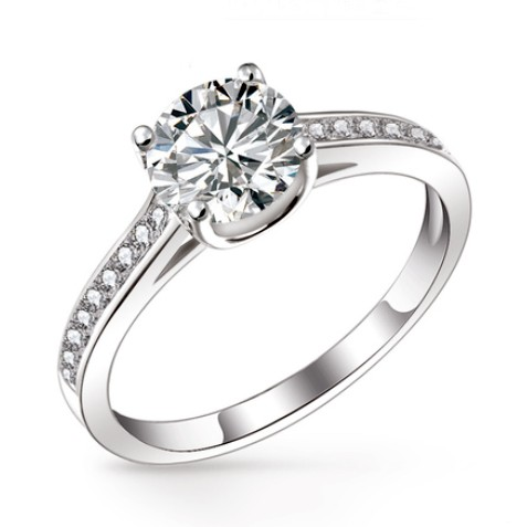 affordable diamond wedding ring for women with custom engraving
