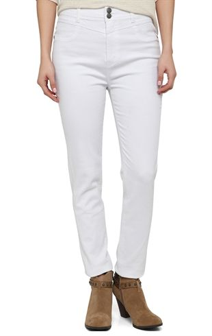 High Waisted Stretch Skinny Pant - 400004188467 - DebShops.com