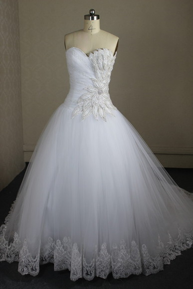 dress wedding dress bridal gowns crystal dress