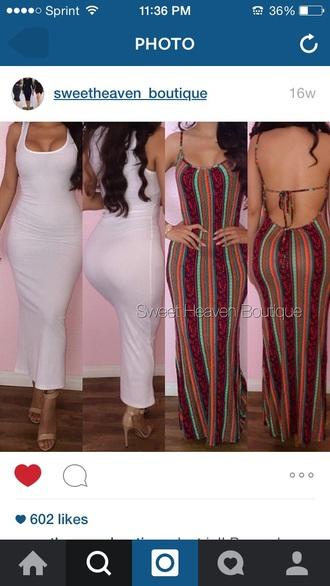 dress style maxi dress striped dress sexy dress