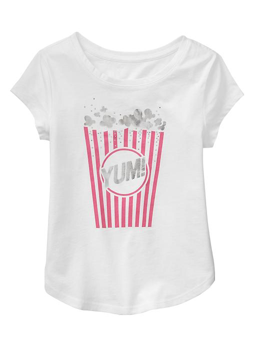 gap embellished graphic tee - off white