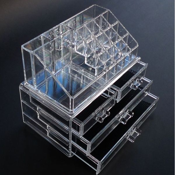 ★ Makeup Organizer ★ Cosmetics Acrylic Clear Case Storage Insert Holder Box New | eBay
