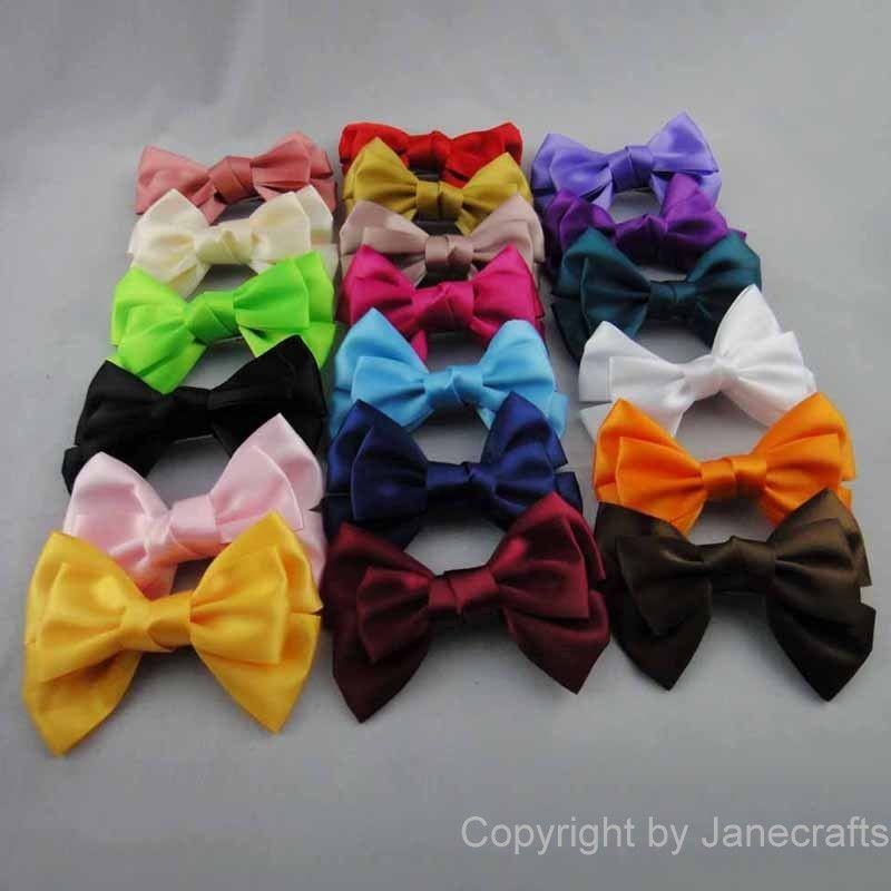"1pcs 4"" Big Boutique Women's Girl's Satin Ribbon Hair Bow Hair Clips Hairpin 