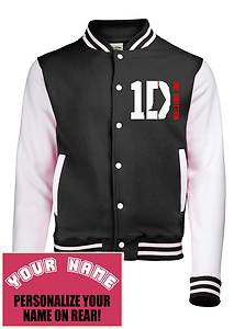 1d one direction varsity college letteman baseball jacket add your name