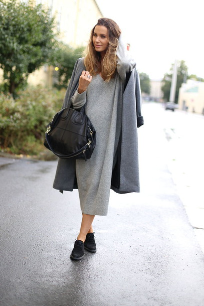 22b09ca194ac0 dress midi knit dress grey dress midi dress knitwear knitted dress sweater  dress long sleeves winter
