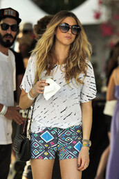 colorful,whitney port,shorts