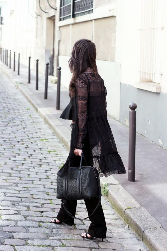 Black dentelle cardigan