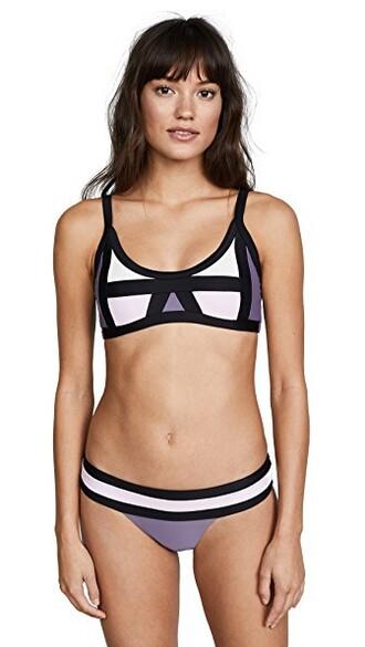 bikini bikini top colorblock swimwear