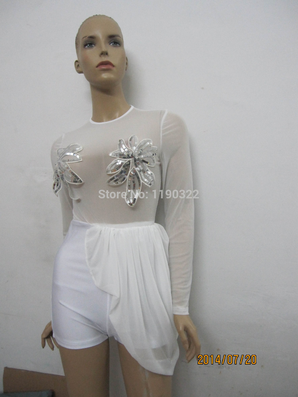 2014 summer white novelty Fashion palysuit short dress rompers chiffon irregular sexy club party OM110-in Jumpsuits & Rompers from Apparel & Accessories on Aliexpress.com | Alibaba Group