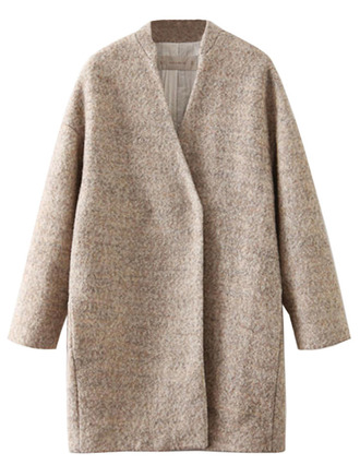 coat brenda shop apricot wide wool loose jacket winter outfits fall outfits trendy open front wool coat