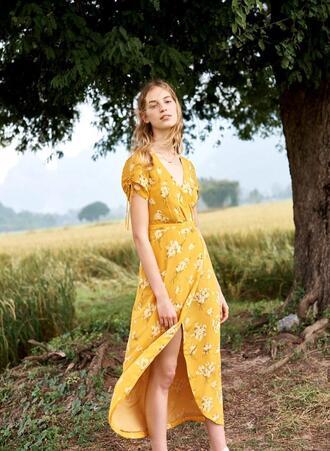 fashiongonerogue blogger dress sweater t-shirt shirt skirt jewels spring outfits spring dress maxi dress yellow dress