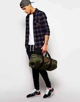 clothes flannel shirt checkered shirt plaid shirt menswear hipster menswear mens shirt mens holdall mens cap