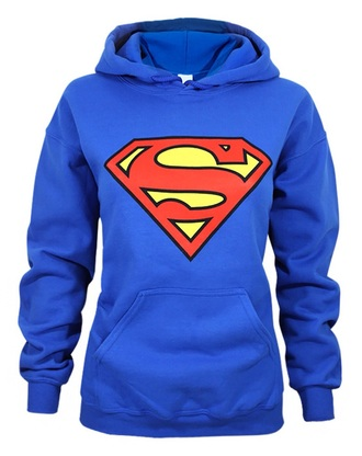 sweater blue superman hoodie  size 122