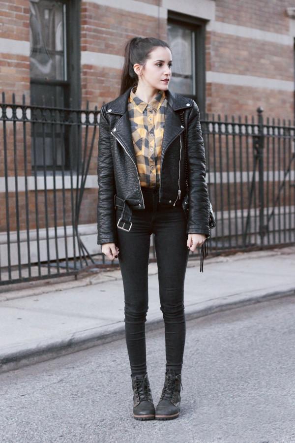 eaa8fad35785 dress like jess blogger jacket shirt jeans shoes bag rebecca minkoff.