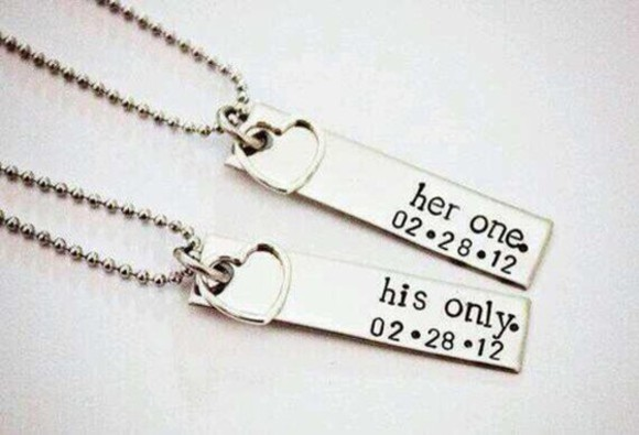 jewels necklace love couple boyfriend girlfriend together forever