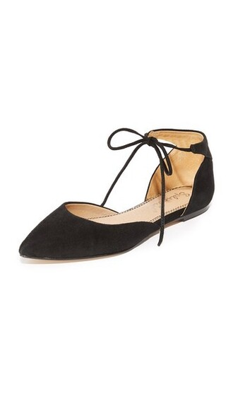 flats black shoes