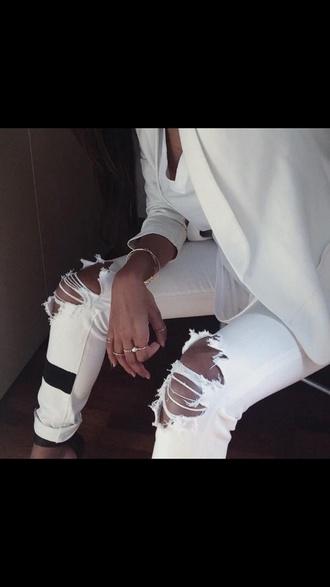 jeans pants white pants boyfriend jeans white jeans
