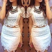 jumpsuit,white dress,white t-shirt,white top,white crop tops,white skirt,lace dress,lace top,lace skirt,style,skirt,top