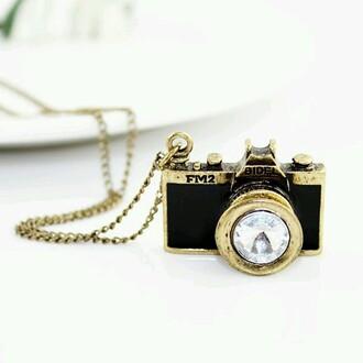 jewels photocamera necklace