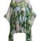 Hydrangea-print silk-chiffon blouse