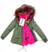 coat,pink fur,winter outfits,collar,hood,parka,fur collar coat