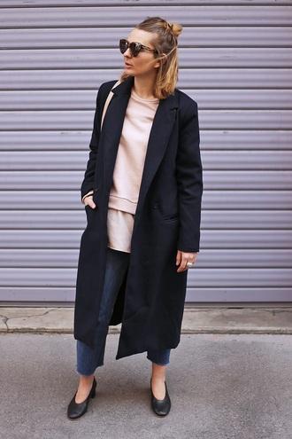 jane's sneak peak blogger coat jeans top shoes bag sunglasses