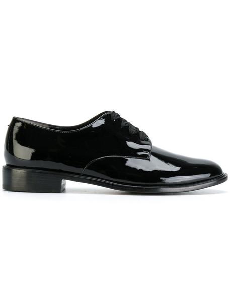 Robert Clergerie women shoes lace-up shoes lace leather black