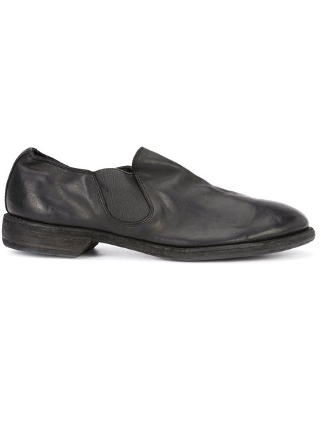 horse women loafers leather black shoes