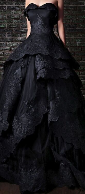 dress black dress rami kadi gothic dress ball gown