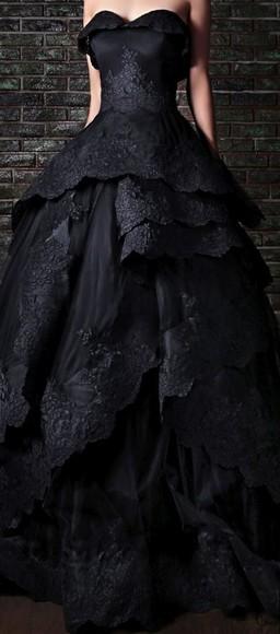 ball gown dress little black dress rami kadi gothic dress