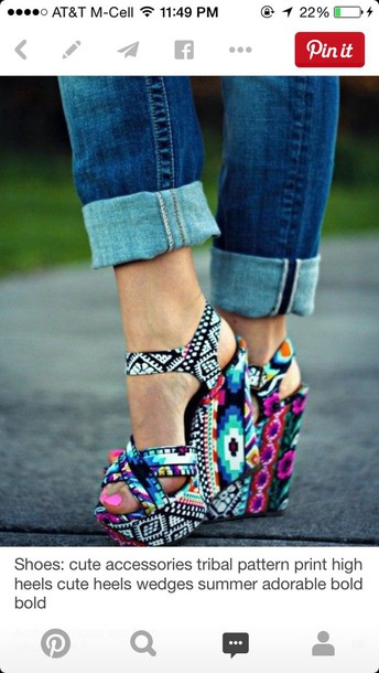 shoes steve madden high heels wedges colorful shoes