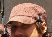hat,brown,camouflage,cap,brim,wool,wool blend,cotton,headwear,head,black tag,logo