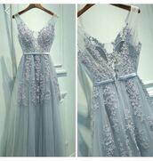 dress,pretty,blue,lace,flowers,urgent