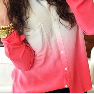 blouse pink ombre ombre shirt